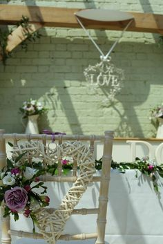 Ceremony table at Gaynes Park in The Orangery. May 2012