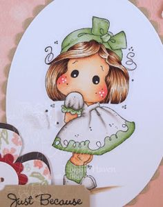 Heather's Hobbie Haven - Tilda with Kneesocks Card Kit