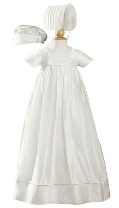 d43899cbdb3e Pintucked Silk Handmade Unisex Christening Gown w. 2 Hats 0-12m. Baptism  GownBaby BaptismChristening Gowns ...