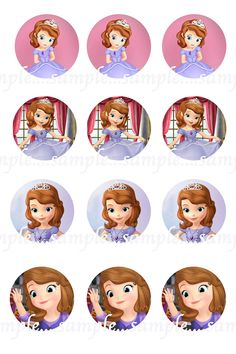 INSTANT Download!!! Princess Sofia, Sofia the First Bottle Cap Images- DIGITAL-Tags-Cupcake Toppers-Scrapbooking and More. by Scrap2UDrop