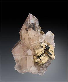 Pyrite on Quartz Berezovskii Mine Russia / Mineral Friends <3