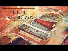 Mixed Media Canvas - Imagination - A Faber Castell Design Memory Craft Tutorial - YouTube