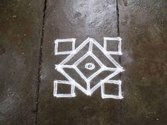 Rangoli designs/Kolam: S.No. 72 :- 5-5pulli kolam
