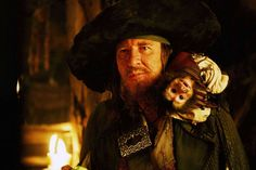 Captain Barbossa and Jack in Pirates of the Caribbean: At World's End.