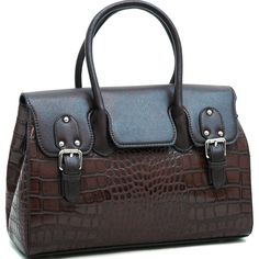 Croco Chic Briefcase-Style Satchel [2484-302310FTFT] - $48.99 : Lyns Crafts, Handbags on Sale. Crochet bags, abaca bags, and fashion bags on sale now!