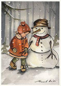 Christmas Items, Christmas Images, Christmas Snowman, Vintage Christmas, Xmas, Holiday Cards, Christmas Cards, Illustrator, Frosty The Snowmen