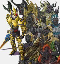 Kamen Rider Blade and Undeads