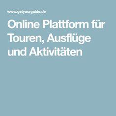 Online Plattform für Touren, Ausflüge und Aktivitäten