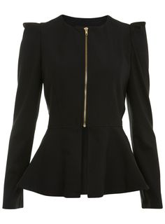 Miss Selfridge   BLACK PEPLUM JACKET  Price: £45.00  Colour: BLACK  Item code: 26J05KBLK