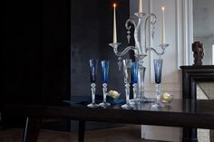 Baccarat – Mille Nuits. champagne glass flutissimo, candle holder
