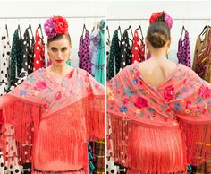 Dos mantoncillos cruzados en la cintura crean esta especie de kimono sobre tu traje de flamenca. Laura Álvarez Kimono, Google, Fashion, Flamenco Dresses, Festival Outfits, Clothes Cabinet, White Jeans, Moda, La Mode