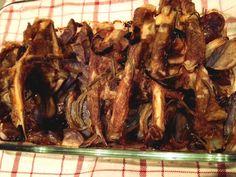 Agnello con patate viola al forno | |