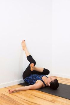 You'll Feel So Much Better After This Restorative Wall Yoga Sequence
