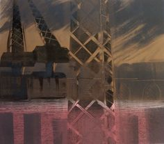 Kate Dicker RE, Cranes, Monotype. POA, Contact info@banksidegallery.com for further details. See www.banksidegallery.com for other prints and paintings
