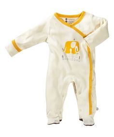 Look what I found on #zulily! Tea & Yellow Elephant Organic Cotton Footie - Infant #zulilyfinds