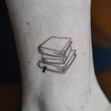 Image result for stack of books tattoos