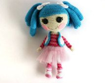 Crochet doll Lalaloopsy Mittens Fluff n Stuff, Christmas gift, Stocking stuffer