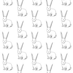 bitty bunny fabric by merrilee liddiard on Spoonflower - custom fabric