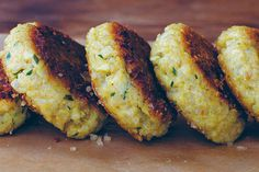 Little Quinoa Patties and other  recipes at Epicurious. I would make a few changes, but looks good