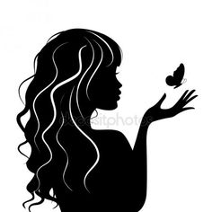 Vector illustration of beauty woman with butterfly - Vec .- Ilustración vectorial de mujer de belleza con mariposa — Vector de stock Vector illustration of beauty woman with butterfly – Stock Vector - Ballerina Silhouette, Man And Woman Silhouette, Couple Silhouette, Silhouette Painting, Silhouette Images, Girl Silhouette, Black Silhouette, Silhouette Drawings, Female Face Drawing