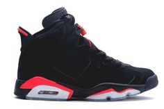 "AIR JORDAN 6 (VI) RETRO ""INFRARED"" BLACK/DEEP INFRARED SALE $72.63"