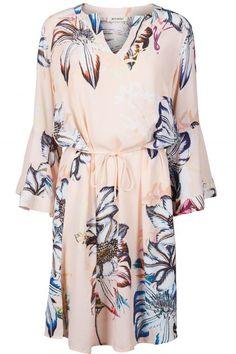 Peach blomstret kjole med volanger Mos Mosh - 121660 heru fleur dress