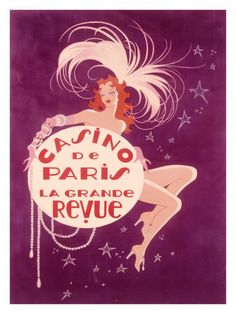 Burlesque poster.  #Paris #purple #pink #Paris #French #art #casino #girl #cute #pretty #wantz