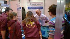 Naidex in Birmingham - Tony explaining the benefits of Assistive Technology