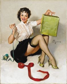 gil elvgren pin up bed - Google Search