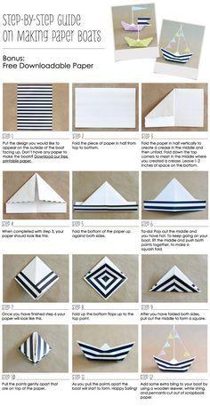 Talvez você tenha se esquecido como fazer um barquinho de papel. Veja o tutorial.