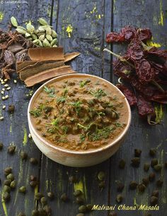 There are several interesting things about this recipe. First of all, there is the malvani masala, which is so aromatic and flavourful because all the ingredients are toasted before grinding.   Then, there is the hara chana, which is cooked and crushed to a very convenient consistency before being used in the gravy.   Then, there is the use of tamarind instead of tomatoes, which adds to the flavour and pungency without toning down the effect of the spices.   In all, the malvani chana masala…