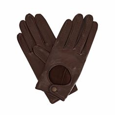 Bega Dark Brown Leather Driving Gloves with Dark Brown Tweed   Gizelle Renee   Wolf & Badger
