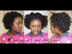 ..Boho Inspired Natural Hairstyle #3