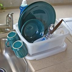 The Camco 43511 RV Mini Dish Drainer Fits Into RV Sinks And Is Sized Just  Right For Limited Counter Space.