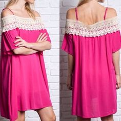Nwt Off The Shoulder Crocheted Dress Or Cover-Up