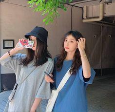 Korean Fashion Dress, Ulzzang Fashion, Korean Outfits, Aesthetic Korea, Aesthetic Girl, Ulzzang Couple, Ulzzang Girl, Arabian Beauty Women, Korean Best Friends