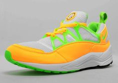 info for f27cb fe566 NIKE AIR HUARACHE LIGHT ATOMIC MANGO White Electric Green Nike Shoes Cheap, Cheap  Nike,