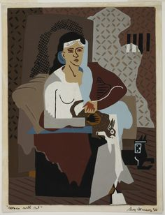 """""""Woman with Cat,"""" 1932, by Guy Maccoy"""