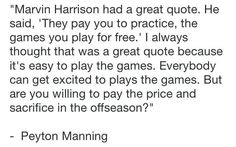 """Eric Musselman on Twitter: """"""""Marvin Harrison had a quote: 'They pay you to…"""