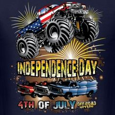 American Monster Truck Monster Jam, Monster Trucks, Truck Art, Freestyle, Car Drawings, Chevy Trucks, Offroad, 4th Of July, 4x4