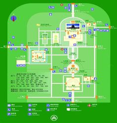 Temple of Heaven Map 天坛公园游览指南