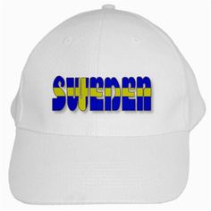 Flag Spells Sweden White Baseball Cap