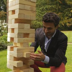 """Mega Tumble Tower::  Traditionally you would shout """"Jenga"""" when the tower falls over, but in this case I think """"Timber"""" is much more appropriate!"""