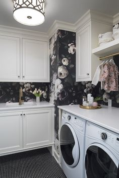 33 delightful laundry room wallpaper images in 2019 entrance hall rh pinterest com