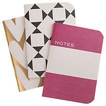 Buy Caroline Gardner Hearts Notebooks, Set of 3 Online at johnlewis.com