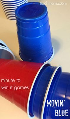 minute to win it games movin blue | minute to win it games --> great for family fun night, birthday parties, or class parties. and? there's a ton of FUN along with math and movement! -->  grab everything you need at teachmama.com