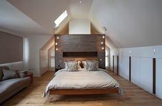 Interior design profile - Rosie Winston. Bedroom within roof conversion. Portsmouth, Boudoir, Interior Design, Cool Stuff, Bedroom, Attic, Inspiration, Furniture, Profile