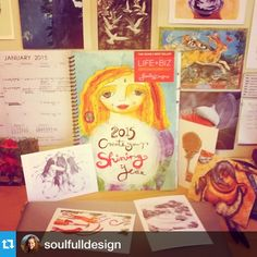 You go girl @soulfulldesign! ・・・Getting my illustration on with Leonie Dawson's #2015workbook  Here I come 2015! #workbook #planner #inspiration www.2015workbook.com
