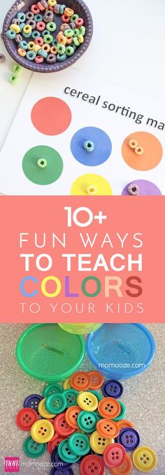 10+ Fun Ways to Teach Color to Your Kids #colors #kids #toddler #games #DIY: