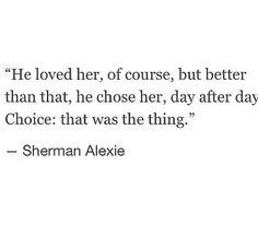 I would like someone to choose me